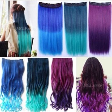colored human hair extensions colored clip in hair extensions new curly