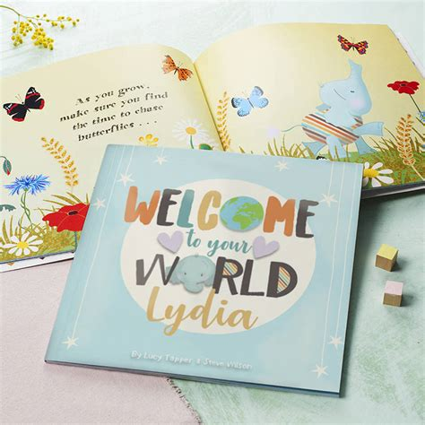 My Baby Book welcome to your world personalised new baby book by