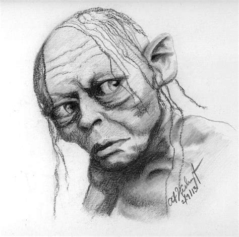 R Drawing Images by Gollum Drawing By Anthony Verburgt