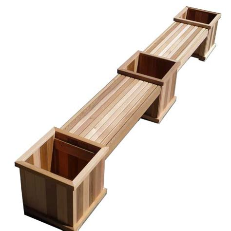 bench planter box cedar bench and planter boxes beautiful cedar patio