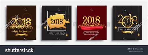 new year colors and gold vector sets happy new year 2018 stock vector 775334386