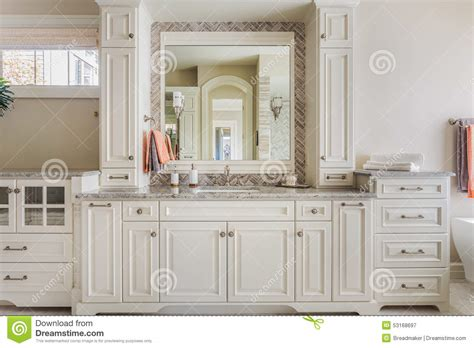 masters bathroom vanity cabinets master bathroom cabinets sink and vanity stock image