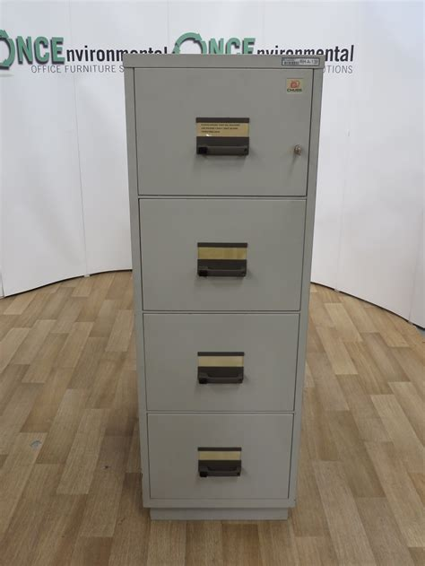 used 3 drawer fireproof file cabinet used office storage chubb 4 drawer fireproof filing