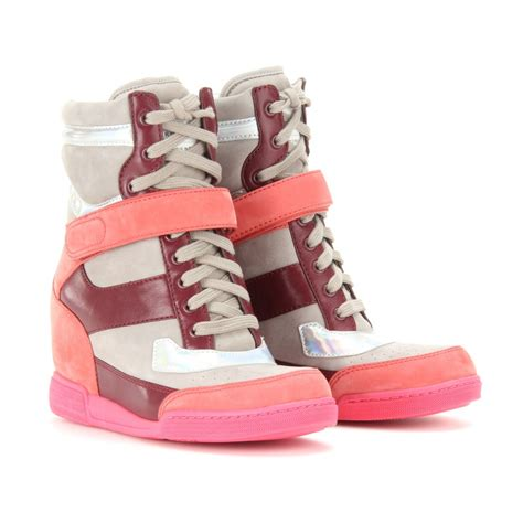 Wedges Shoes Cortina 1 lyst marc by marc kisha wedge sneakers in pink