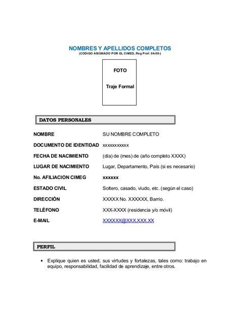 Modelo Curriculum Vitae Word Trackid Sp 006 Formatos Hoja De Vida 2015 Newhairstylesformen2014