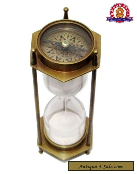 sand table for sale vintage brass antique sand timer hourglass with compass