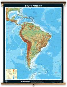 map of south america free large images klett perthes large physical map of south america