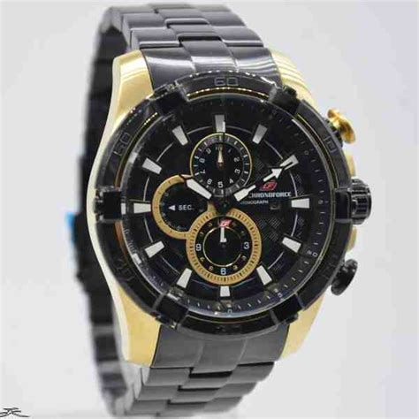 Chronoforce Black White Original jual jam tangan pria chronoforce 5267mbg black gold baru
