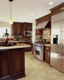 Kitchen Color Ideas With Cherry Cabinets A Luxury Kitchen With Cherry Cabinets And A Large Island