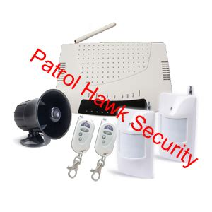 patrol hawk security sim card gsm wireless alarm system