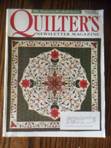The Newsletter Magazinedecember Issuei by Quilter S Newsletter Magazine December 2000 No 328 Back