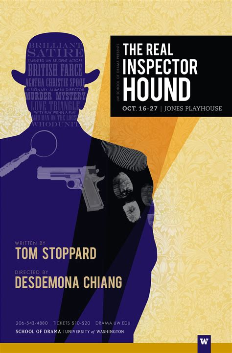the real inspector hound arts roundup music film drama lectures and chamber dance company uw news