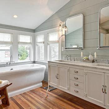 Shiplap Wainscoting Bathroom Sloped Shiplap Ceiling Design Ideas