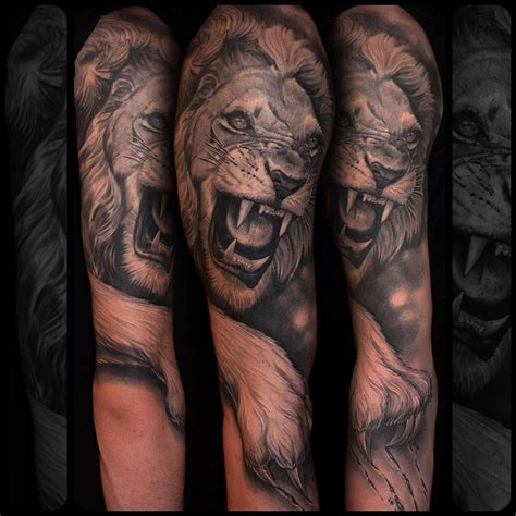 realistic lion tattoo designs realistic animals lions