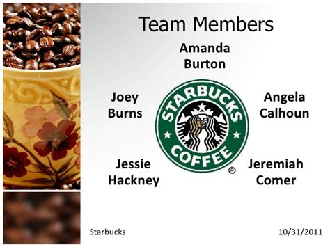 starbucks powerpoint template starbucks powerpoint