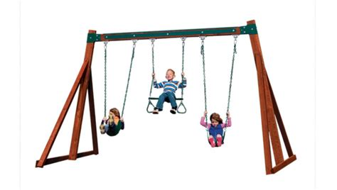 swing set size play structures for any yard size traditional kids