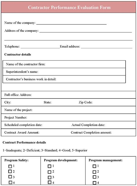 sle performance evaluation form performance evaluation forms teacheng us