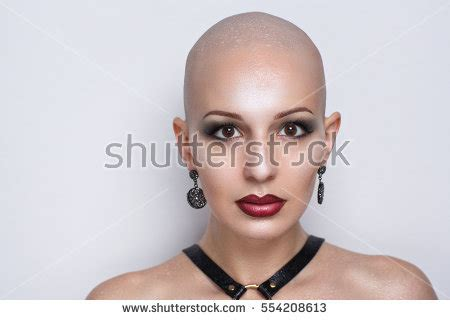 sexy woman goes bald punishment stock images royalty free images vectors
