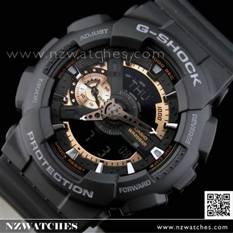 G Shock Time New Model Black Gold 1 buy casio g shock black gold 200m world time ga 110rg 1a ga110rg buy watches