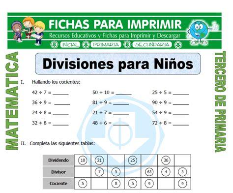divisiones para ni 241 os para tercero de primaria fichas - Problemas Para Ni Os De Cuarto De Primaria