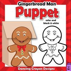Printable Gingerbread Man Paper Bag Puppet | christmas tree puppet puppet christmas tree and parents