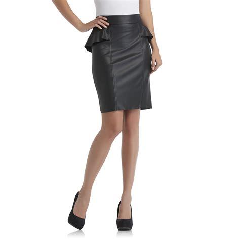 sofia by sofia vergara s peplum skirt faux leather