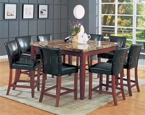 modern counter height dining tables square counter height modern dinette w genuine faux top table