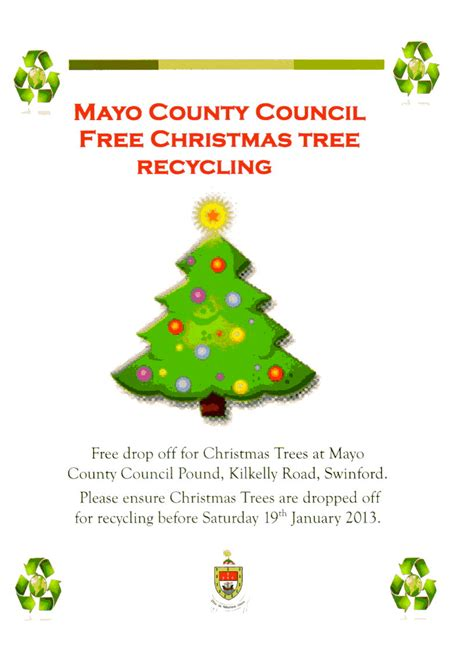 christmas tree recycling swinford tidy towns