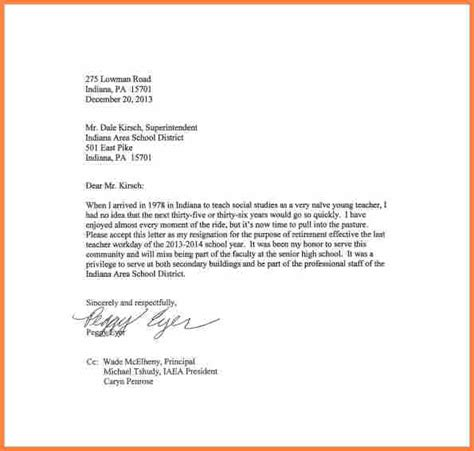 Resignation Letter Education Sle 8 Resignation Letter Teaching Resign Letter