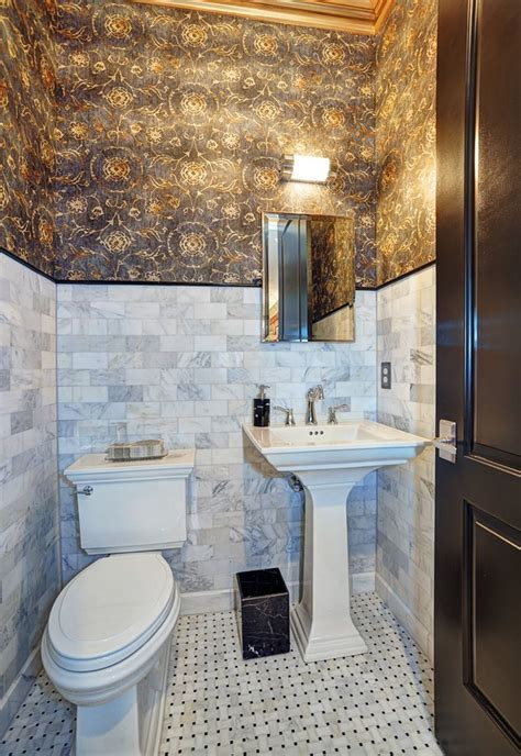 Powder Bathroom Ideas by Dazzling Kohler Pedestal Sink In Powder Room Traditional