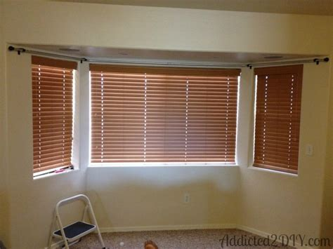 how to do curtains on a bay window diy bay window curtains addicted 2 diy