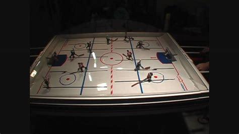 carrom elite stick hockey table carrom elite stick bubble hockey singles game 3 youtube