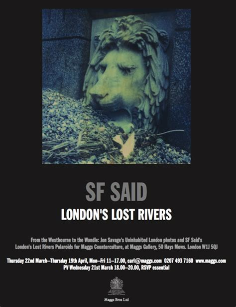 londons lost rivers 184794597x london s lost rivers exhibition strange attractor