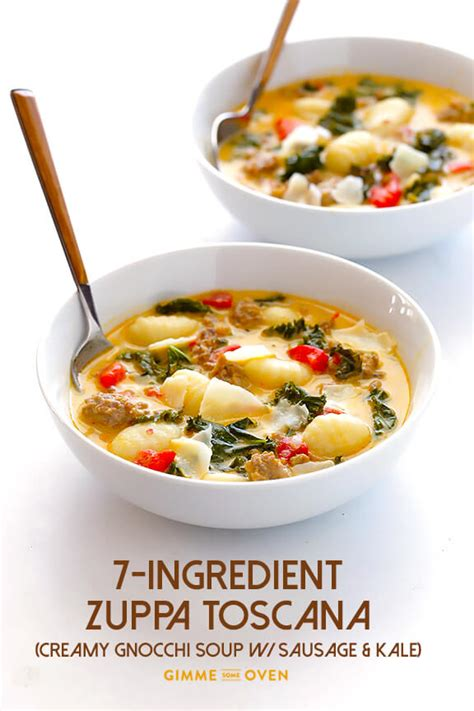 Oven Zuppa Soup 7 ingredient easy zuppa toscana gnocchi soup with