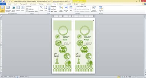 Free Door Hanger Template For Business Word 2013 Microsoft Publisher 2010 Door Hanger Template