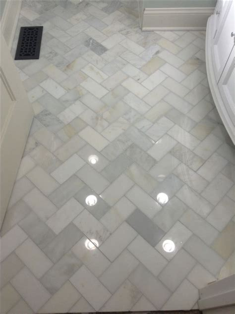 bathtub floor herringbone marble bathroom floor home decor pinterest