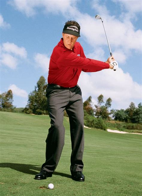 phil mickelson iron swing many amateurs find the half wedge shot to be awkward phil