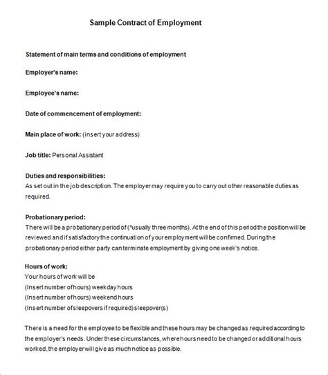18 Job Contract Templates Word Pages Docs Free Premium Templates Contract Work Template