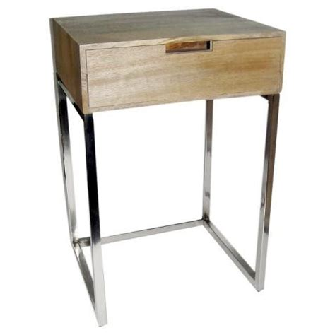 chrome accent tables hardwood and chrome accent table