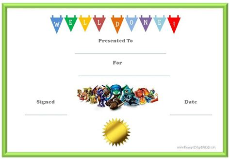 10 certificates for kids certificate templates
