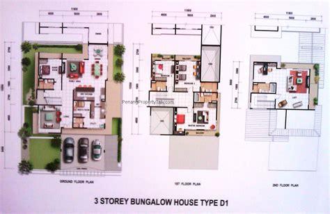floor plan bungalow type greenpark bungalow type d1 floorplan penang property talk