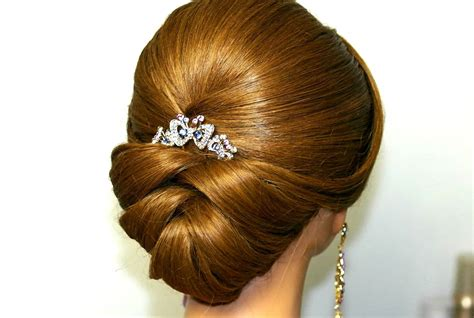 bridal wedding hairstyles youtube wedding hairstyle for medium long hair bridal updo youtube