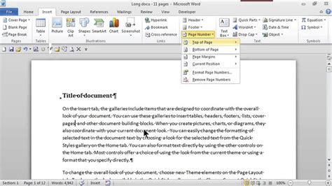 top right how to add page numbers in the top right corner ms word