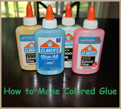 Best Glue For Papercraft - how to make colored glue for crafts crafts 4 boys