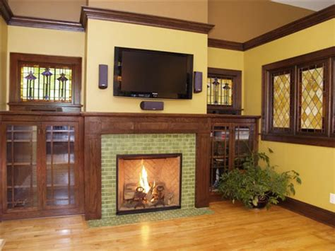 Craftsman Style Built In Bookcases Fireplaces And Built Ins On Pinterest Bungalows