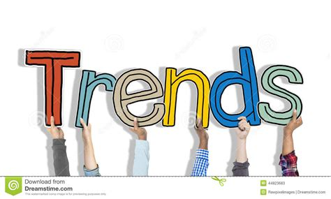 What Trends Are You by Diverse Holding The Word Trends Stock Image Image