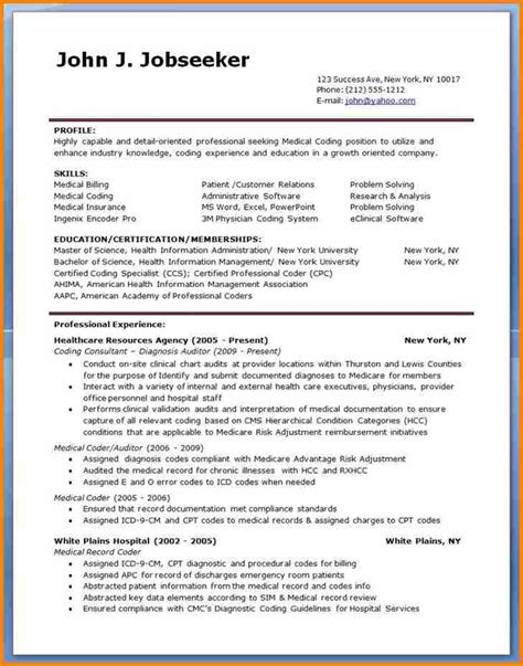 medical billing and coding resume sample with medical coder resume