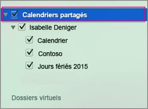 Calendrier Partage Ouvrir Un Calendrier Exchange Partag 233 Dans Outlook 2016