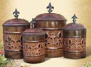 kitchen canisters kitchen canister sets and fleur de lis
