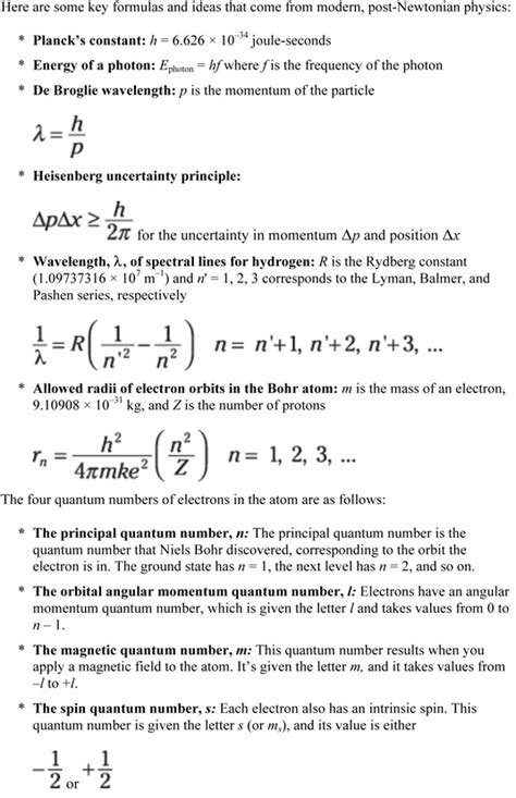 physics ii  dummies cheat sheet dummies